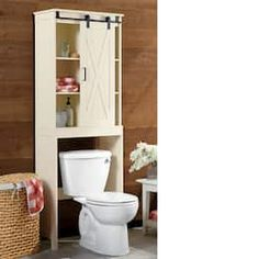 Seventh Avenue's bathroom storage cabinets help you define your bathroom style. You can afford bathroom space savers and furniture today with Seventh Avenue Credit. Barn Door Cabinet, Low Cabinet, Door Coverings, Barn Storage, Upstairs Bathrooms, Rustic Bathrooms, Storage Cabinets, Storage Units, Storage Ideas