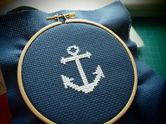 Anchor Cross Stitch by Aleximo, via Flickr