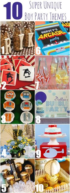 We Heart Parties: Blog 10 Super Unique Boy Party Themes