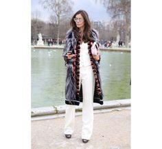 Street look à la Fashion Week de Paris automne-hiver 2014-2015