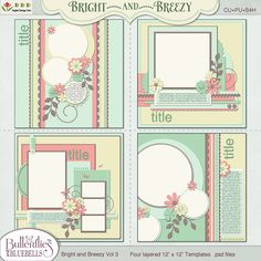 Bright and Breezy Templates Vol 3 by Butterflies and Bluebells