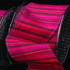 Burgundy Pink and Black Striped Craft Ribbon 38 x 108 Yards >>> You can find more details by visiting the image link.