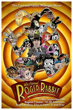 Who Framed Roger Rabbit - midnight movie poster