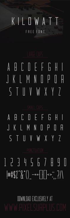 Kilowatt is a condensed all-caps sans-serif display font from Pixel Surplus. It… Kilowatt is a condensed all-caps sans-serif display font from Pixel Surplus. Font Design, Graphic Design Fonts, Typography Design, Web Design, Type Design, Media Design, Calligraphy Fonts, Typography Letters, Typographie Fonts