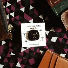 This Black Bear pin from @mochichito is so frigging cute!  Thanks Steph ! #pinstagram #lapelpin