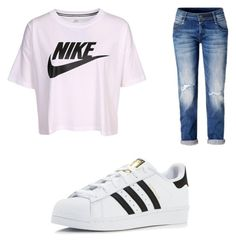 """Nike ✔️"" by cbr-style on Polyvore featuring NIKE and adidas"