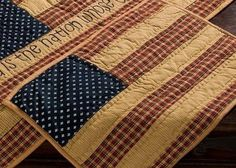 Patriotic Patch Quilted Placemats (set of 2) in Rustic Americana Pattern  #patriotic #USA #July4th