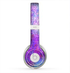 The Abstract Blue & Pink Surface Skin for the Beats by Dre Solo 2 Headphones Best In Ear Headphones, Sports Headphones, Bluetooth Headphones, Fashion Headphones, Disco Party Decorations, Beats By Dre, Iphone 5 Cases, Iphone Accessories, Ear Phones