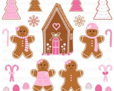 gingerbread girl clipart - Google Search