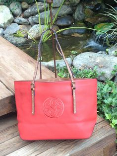 Monogram Purse in Poppy Red