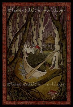 Hey, I found this really awesome Etsy listing at https://www.etsy.com/listing/124617293/baba-yaga-signed-a4-print-of-my-original