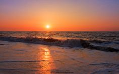sunrise over water photos | Golden Sunrise Over Waves at Southwold - Sunset Background - 1680x1050 ...