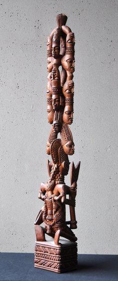 Oshe Shango (consists of nine heads!) By Ganiyu Fakeye