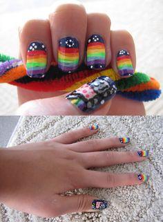 nyan cat nail art