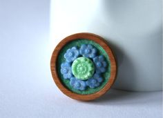 Buttons Brooch