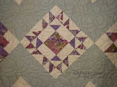Lime Tree Panto - Block of the Month, quilted by Angela Huffman