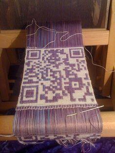 #www.qr-3d.weebly.com #qr #3d #code #weave #weaving #loom