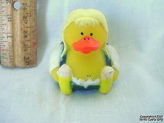 "Rubber Duck OKTOBERFEST German Blonde Girl 2 Beer Steins Duckie NEW 2"" Ducky"