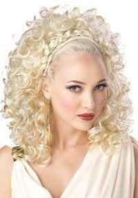 roman greek style dresses | Blonde Grecian Goddess Wig - Greek and Roman Costume Accessories
