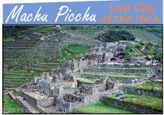 Free Machu Picchu Minibook  #Machu Picchu #homeschool #ihsnet