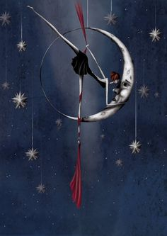 """Sibylle Dodinot (France)  """" Woman kissing the moon """""""