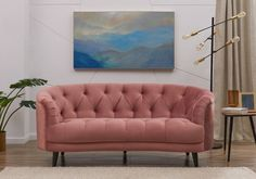 Silloth Pink Velvet Fabric Love Seat Sofa - available to buy online or at Choice Furniture Superstore UK on stockist sale price. Get volume - discount with fast and Free Delivery. Velvet Sofa, Tufting Buttons, Pink Velvet, Sofas, Love Seat, Couch, Free Delivery, Interior, Seattle