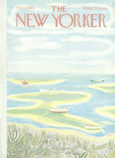The New Yorker - Saturday, August 7, 1965 - Issue # 2112 - Vol. 41 - N° 25 - Cover by : Ilonka Karasz