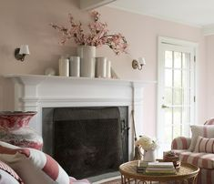 This isn't my room, but I've been using soft Pink Moire all around my house for years. It's versatile, flattering and low key but just different enough from the usual beige. Photo: Benjamin Moore.
