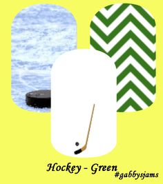 My custom Jamberry Wraps hockey green NAS Nail Wraps #jamberry #gabbysjams Contact me if you are interested in purchasing them:https://www.facebook.com/groups/1000449243382687/ or gabbysjams@gmail.com or https://www.facebook.com/gabbysjams/ DIY, nail art, cute,