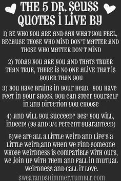 The 5 Dr. Seuss Quotes to live by