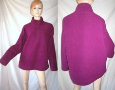 PATAGONIA Cotton Nylon Fleece Half Zip Purple Pullover Jacket XL