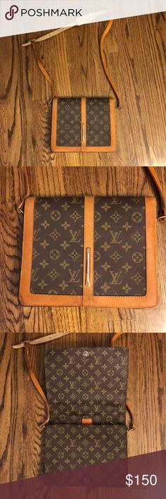 Louis Vuitton side bag Purchased at a vintage shop, cannot guarantee it is authentic but think it is. Very cool piece Louis Vuitton Bags