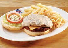 Spur Goodie Burger - the only burger I've eaten in the last 23 years - NOTHI. Creamy Mushroom Sauce, Creamy Mushrooms, Stuffed Mushrooms, I Love Food, Good Food, Yummy Food, South African Recipes, Ethnic Recipes, One And Only