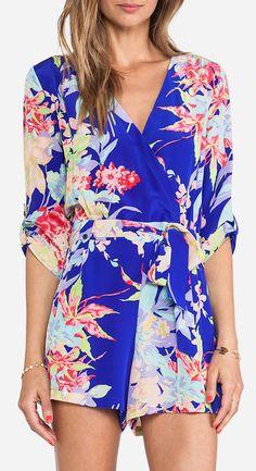 Yumi Kim Liz Romper in Blue Zean Floral