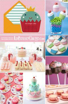 Cumpleaños de cupcakes