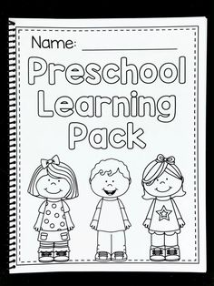 Preschool Worksheets - Math and Literacy Learning Packet - Distance Learning Preschool Writing, Numbers Preschool, Kindergarten Learning, Preschool Learning Activities, Free Preschool, Preschool Lessons, Preschool Classroom, Preschool Printables, Preschool Homework