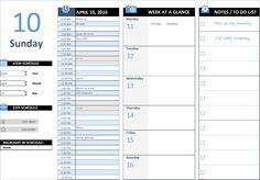 Daily Work Schedule Excel