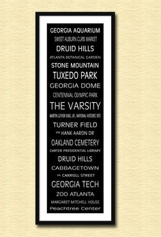 Atlanta Subway Sign Bus Scroll 12 x 36 Poster by ParisPhotoShop