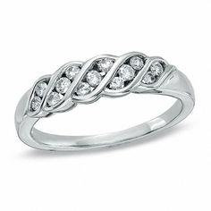Diamond Twist Wedding Band in White Gold - Peoples Jewellers Plan My Wedding, Dream Wedding, Diamond Wedding Bands, Wedding Rings, Peoples Jewellers, Gold View, Round Diamonds, Diamond Earrings, White Gold