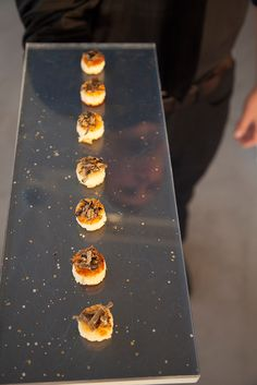 Delicious scallop appetizers made by Peter Callahan Catering | petercallahan.com | #marthaweddingsparty
