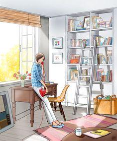 83번째 이미지 Chica Fantasy, Woman Illustration, Anime Art Girl, Illustrations, Aesthetic Art, Cute Drawings, Cartoon Drawings, Cute Art, Pictures