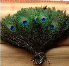 50 unids/lote al por mayor 25-30 cm 10-12 Pulgadas naturales hermosos ojos plumas de pavo real para DIY decoración de la ropa fiesta de la boda