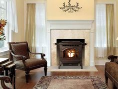 Pellet Stove in Living Room