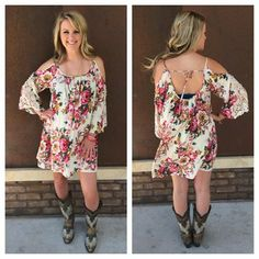 Love Jena's comfy boho style! This little floral dress is adorable!!  Get the look @ Southern Thread in Austin, TX!