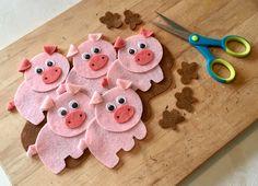 Five Little Muddy Piggies