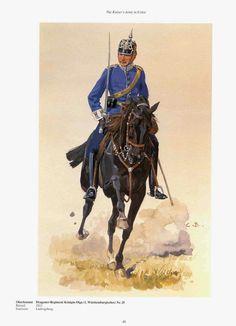German; 25th Dragoon Regiment Konigin Olga(1st Wurttemburg), Oberleutant. c.1900. Raised 1813. Home Depot Ludwigsburg