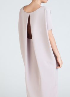 Cream Triangle Midi Dolman Open Back Dress