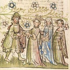 Rosengarten zu Worms; Lucidarius Straßburg - Werkstatt von 1418-1420.