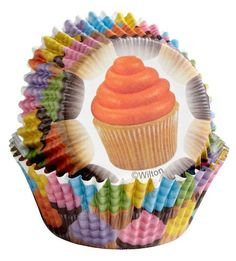 Candy Liners 2in 75ct x 2 by WILTON Muffin CUPCAKE PRINT Cupcake