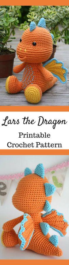 Lars the Dragon Amigurumi Crochet Pattern Printable PDF #ad #amigurumi #amigurumidoll #amigurumipattern #amigurumitoy #amigurumiaddict #crochet #crocheting #crochetpattern #pattern #patternsforcrochet #printable #instantdownload #pdf #dragon